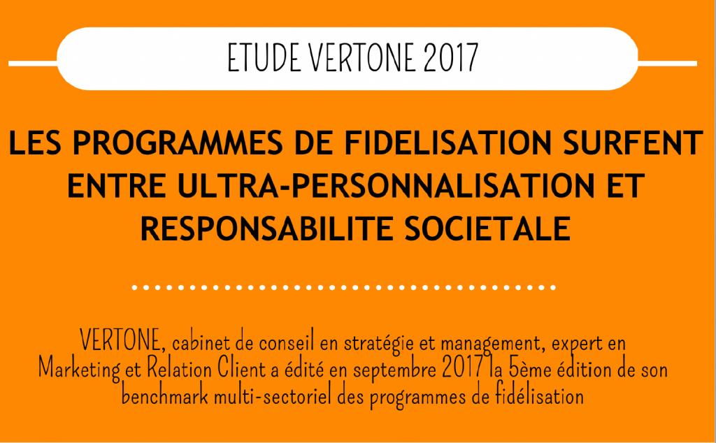 Benchmark programme de fidélité 2017