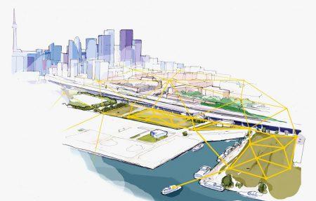 Illustration du quartier du Waterfront à Toronto
