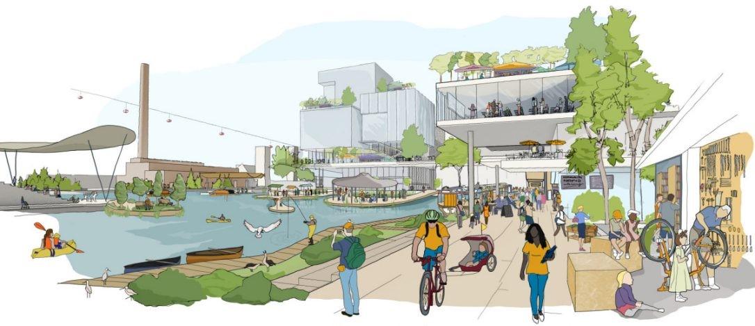Illustration replaçant le citoyen en son cœur de la ville